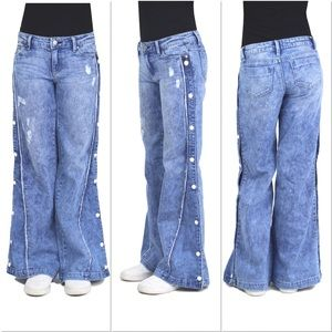 Tractr Girls Hand Off Merchandise Wide Leg Pants D